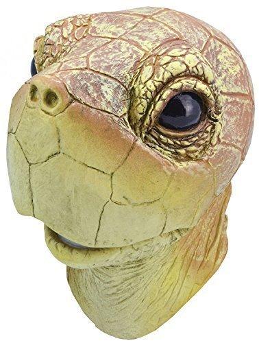 Fancy Me Erwachsene Damen Herren Rubber Das Gesicht Bedeckend Maske Animal Halloween Kostüm Kleid Outfit Zubehör - Schildkröte