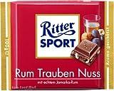 Ritter SPORT Tafelschokolade RUM TRAUBEN NUSS, 100 g VE = 1
