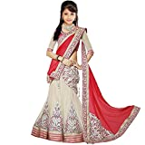 #5: S R Fashion Girl's Georgette Lehenga (SR-801-1_Orange_Free Size)