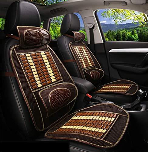 Autositzkissen Bambus Hals Taillenmassage Cool Polster Belüftung Sommer Universal-Automodell Geeignet für 4 Jahreszeiten,2 - Bambus-hals