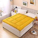 Luqifei Materasso Pieghevole Roll Up Materasso rotolamento Letto futon Materasso Materasso di Sonno Tatami Pelle-Amichevole per Bed (Color : Yellow, Size : 180x200cm)