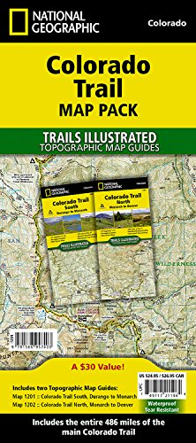 Colorado Trail [map Pack Bundle] (National Geographic: Trails Illustrated)
