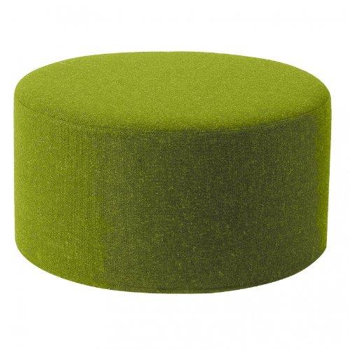 Softline Drum Hocker/Beistelltisch L, hellgrün Stoff Filz 855 H 30cm Ø 60 cm