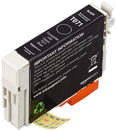 AmazonBasics - Wiederaufbereitete Tintenpatrone für Epson T071 Schwarz
