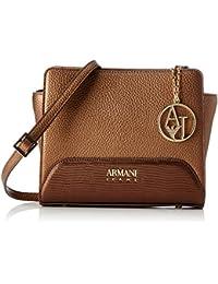 2ac52b8a63 Armani Jeans Borsa Tracolla - Borse Baguette Donna, Braun (Bronzo), 19x8x16  cm