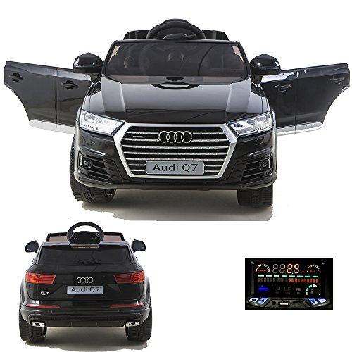 simron Audi Q7 Quattro SUV Elektro Kinderauto Kinderfahrzeug Ride-On 12V Kinder Elektroauto (Schwarz)