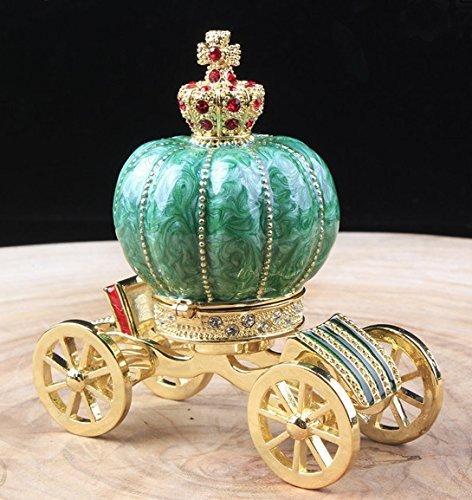Vintage Edelsteinbesetztes Vanity Jewelry Kutsche Box Nice Fairy Krone Schmuckkästchen Kutsche Schmuck Schmuckkästchen (Cinderella Schmuck-box)