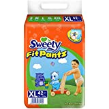 Sweety Fit Pantz Super Jumbo Pack Baby Diaper (Size: XL - 14 To 18 KG, Count: 42)