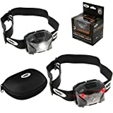 XPR Cree NGT Carp Fishing Head Torch LED Light USB Rechargeable Super Bright, Waterproof, Comes With Case & USB Charging Cable, Red Green White LEDS, Hiking, Hunting