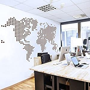 Mapa del Mundo pared adhesivo Removable Map de Calcomanía de Vinilo de pared decorativo de tarjeta World Map – Vinilos Salón Artificial de Decorativo de