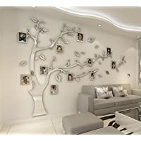 Loterong Der Spiegelrahmen Baum Three Dimensional Wand Aufkleber Creative  3D Acryl Crystal Wohnzimmer Tv Hintergrund