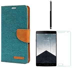 Online Street Premium Drop Protection Flip Combo For Samsung Galaxy S3 I9300- (Green Flip l Tempered l Stylus Pen)