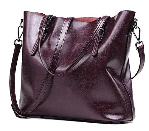 Anne, Borsa tote donna marrone Wine Red Foggy purple