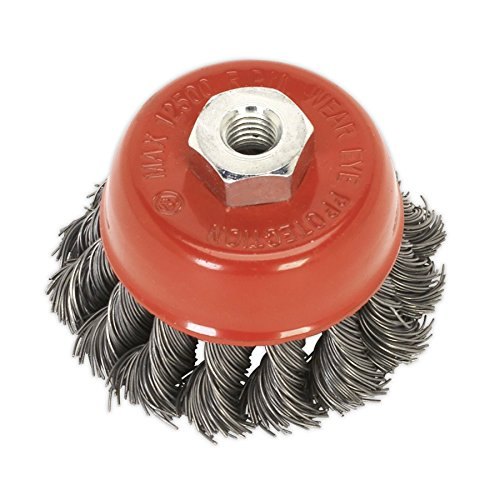 Sealey TKCB651 Twist Knot Wire Brosse de coupe Ø65 mm M14 x 2 mm