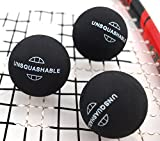 Unsquashable Unisex's Squash Fast Speed Ball-Black, n.a