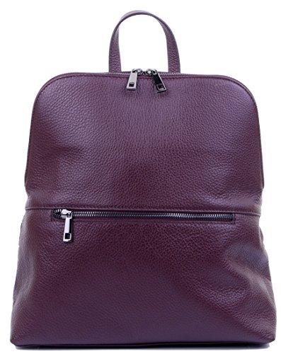 Primo sacchi® top in pelle tessuto maniglia zaino spalla bag. Include borsa di stoccaggio di marca protettiva Rosso scuro