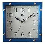 Kotak Sales Positive Feeling Decorative Stylish Square Shape Blue Color Plastic Wall Clock D2