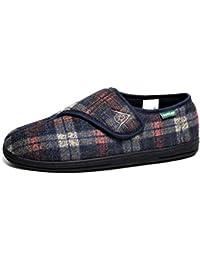 Goodyear Calder - Zapatillas de casa de sintético hombre, color marrón, talla 39.5