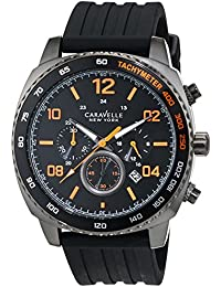 Caravelle New York de hombre reloj de pulsera Cronógrafo Cuarzo Silicona 45b141