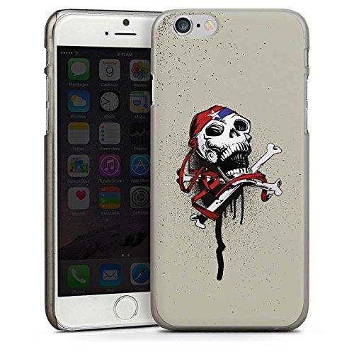 Apple iPhone 6 Housse Étui Silicone Coque Protection Pirate Mort Tête de mort CasDur anthracite clair