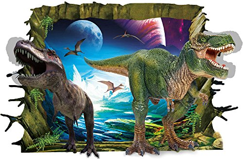 Weaeo Cool 3D Dinosaurier Boden Wand Aufkleber Einer Vinyl Kunst Zu Hause Aufkleber Diy Für Geschenk