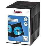Hama Boîtier Slim Double pour Dvd, Lot de 25, Noir