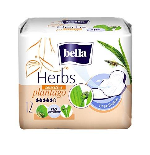 Bella Herbs Binden Plantago mit Spitzwegerich-Extrakt Sensitive, 6er Pack (6 x 12 Stück)