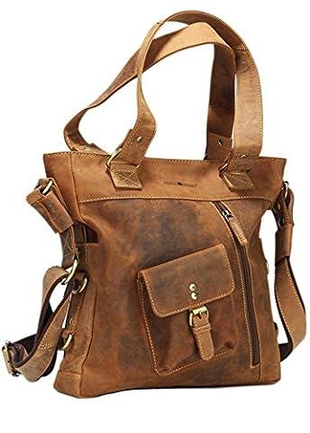 Greenburry Vintage Handtasche Leder 33 cm