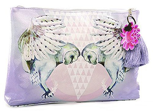 papaya-art-snow-owls-large-travel-pouch-cosmetic-makeup-vegan-oil-cloth-bag-by-papaya-art