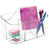 Best Desk Organizers - mDesign Office and Desk Organizer Caddy - Clear Review