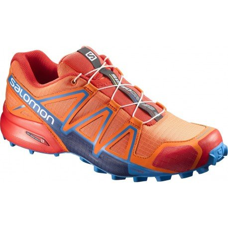 Salomon Speedcross 4, Chaussures de Trail Homme, Multicolore (Scarlet Ibis/Hawaiian Sury/Fiery Red), 43 1/3 EU