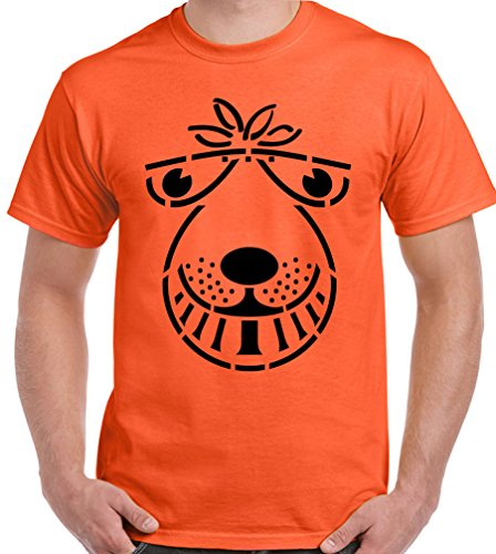 Space Hopper - Mens Funny T-Shirt SPX3 - Orange, XX-Large [Apparel]