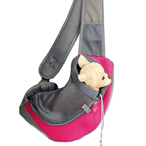 Sannysis Capazos para mascotas mochila perros arneses de seguridad (Rojo, S)