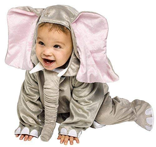 Fancy Me Baby Kleinkind Tier Overall Halloween büchertag Kostüm Kleid Outfit 6 Monate - 2 Jahre - Elefant, 12-24 Months (Halloween Elefant Kostüm Kleinkind)