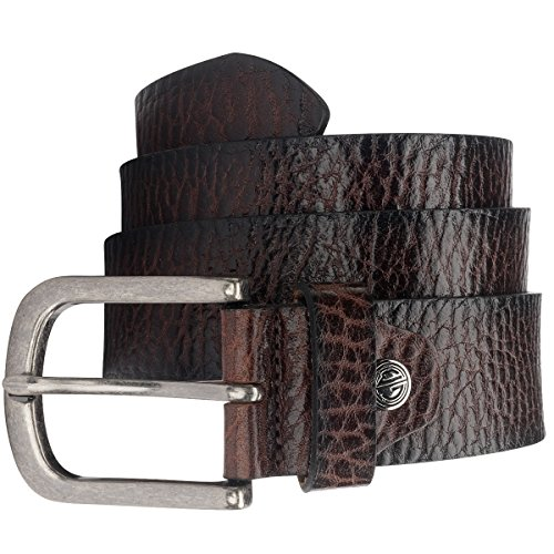 Lindenmann Mens Leather Belt/Mens Belt burgundy