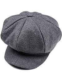 Tukistore Hiver Newsboy Bonnet Gatsby Casquette en Laine Béret Casquette  Bonnet Chapeau pour Unisexe Enfant garçons cc6e852a01a