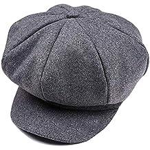 473d0a8237d Tukistore Hiver Newsboy Bonnet Gatsby Casquette en Laine Béret Casquette  Bonnet Chapeau pour Unisexe Enfant garçons