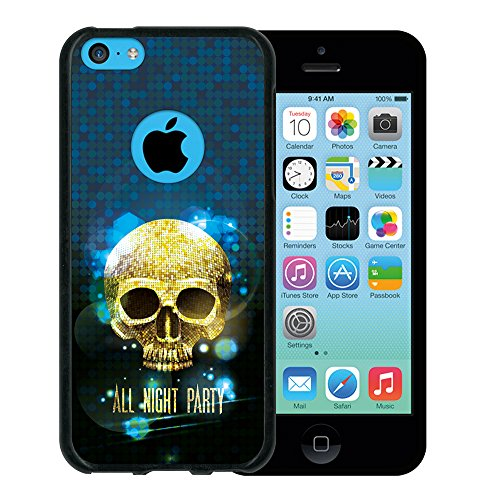 iPhone 5C Hülle, WoowCase Handyhülle Silikon für [ iPhone 5C ] Hand des Skeletts Handytasche Handy Cover Case Schutzhülle Flexible TPU - Schwarz Housse Gel iPhone 5C Schwarze D0351