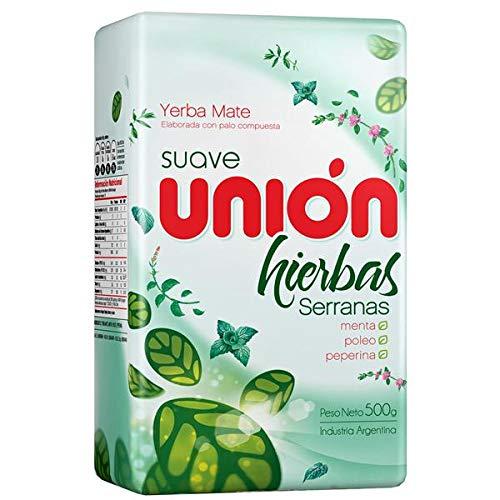 Yerba Mate Unión 500g Suave Hierbas Serranas