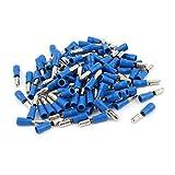Aexit 100 Unids 16-14 AWG MPD2-156 Manguito de PVC azul aislado Terminales de cable de (model: L7671VIIII-5333MQ) 5 mm Crimpado