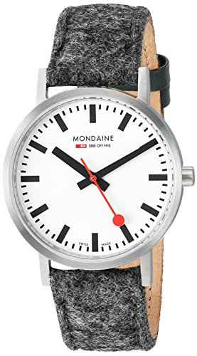 Mondaine Unisex-Adult Analog Swiss-Quartz Watch with Leather Strap A660.30314.16SBH
