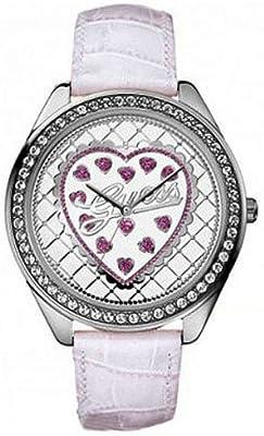 Guess Delight Valentines W75064L2 - Reloj para Mujeres, Correa de Cuero Color Rosa