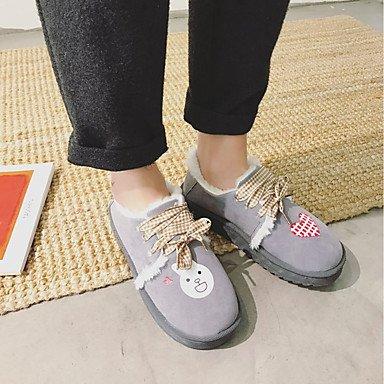 Wuyulunbi @ Chaussures Pour Femmes Pu Hiver Flats Comfort Null Round Toe Null / Pour L'extérieur Us6 / Eu36 / Uk4 / Cn36