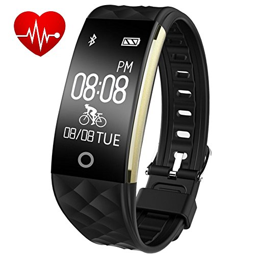 Willful Fitness Armband mit Pulsmesser, Wasserdicht IP67 Fitness Tracker Aktivitätstracker Pulsuhren Bluetooth Smart Uhr Schrittzähler mit Schlafmonitor Kalorienzähler mit Android/ iOS Telefon
