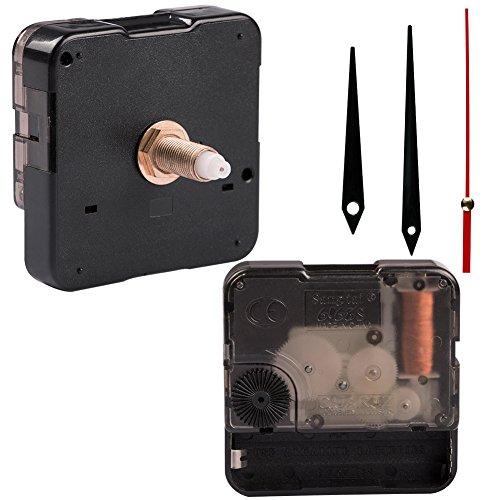Sinblue Quarz Uhr Uhrwerk Ersatz - 1/2 Zoll maximale Zifferblatt Dicke, 15/16 Zoll Hand Schaftlänge, stumm Scan-Mechanismus Batterie betrieben für die Reparatur, DIY Uhr, Craft-Projekte -