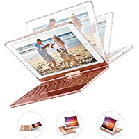 MAD GIGA iPad Keyboard Case 9.7Inch, iPad Wireless Keyboards Bluetooth 4.0 with 7 Colors Backlit and 360°Rotation for 2018,2017 New iPad 9.7/Pro 9.7/Air2/Air, Rose Gold