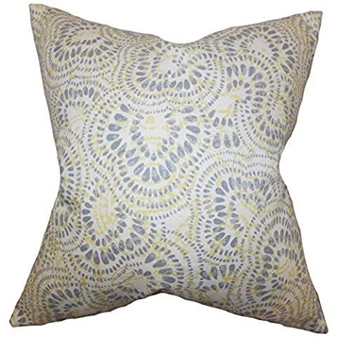 The Pillow Collection KING-d-jax-jonquil-c100 Jonquil Glynis Floral Bedding Sham, King/20