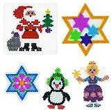 Hama Weihnacht - Stiftplatten Set (Weihnachtsmann,Stern,Kleiner Stern,Engel und Kleiner Pinguin) im Blister Beutel