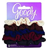 Goody Ouchless Scrunchie, Small Ribbed, 5 Count (Pack of 2)