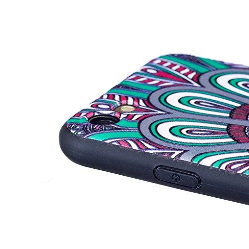 Apple iPhone 7 (4.7 inch) Hülle, SATURCASE Schönes Muster Bas-relief Ultra Dünn Weich TPU Gel Silikon Schützend Zurück Case Cover Handy Tasche Schutzhülle Handyhülle für Apple iPhone 7 (4.7 inch) (Mus Muster-8